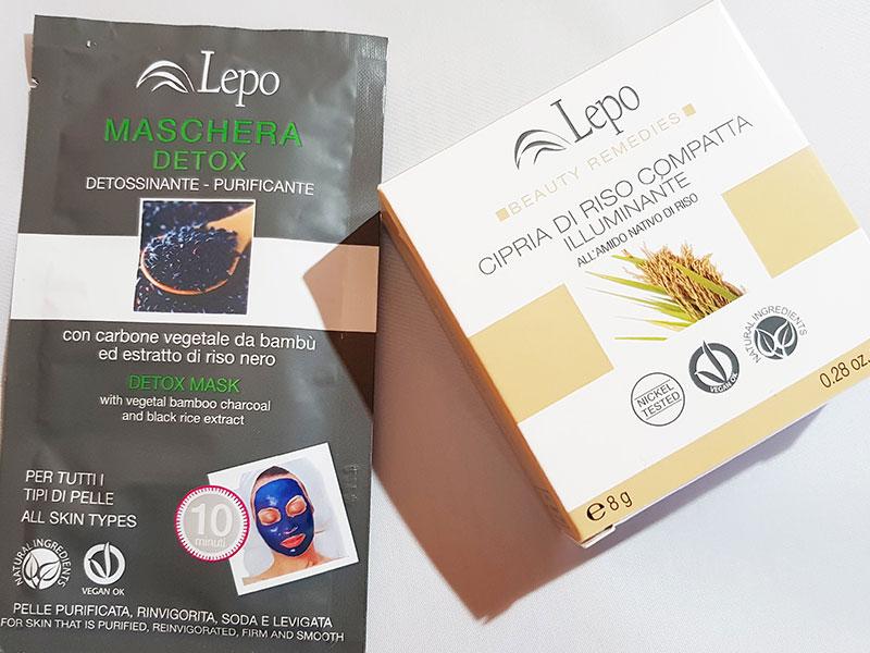 PREVIEW: Maschera viso Detox e cipria di riso illuminante – LEPO Cosmetici Naturali