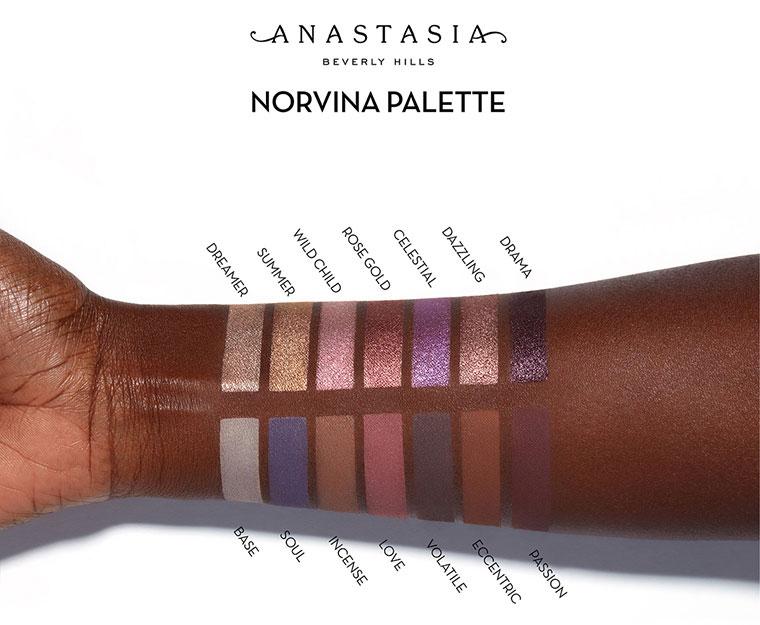 Swatches palette Anastasia X Norvina