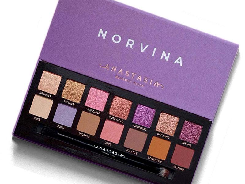 Anastasia X Norvina Palette occhi | swatches, foto, prezzo