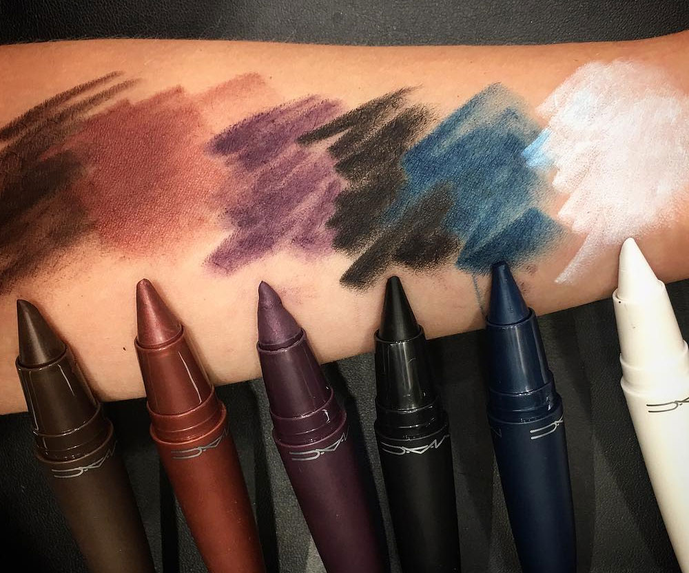 MAC Kajal Crayon Swatches