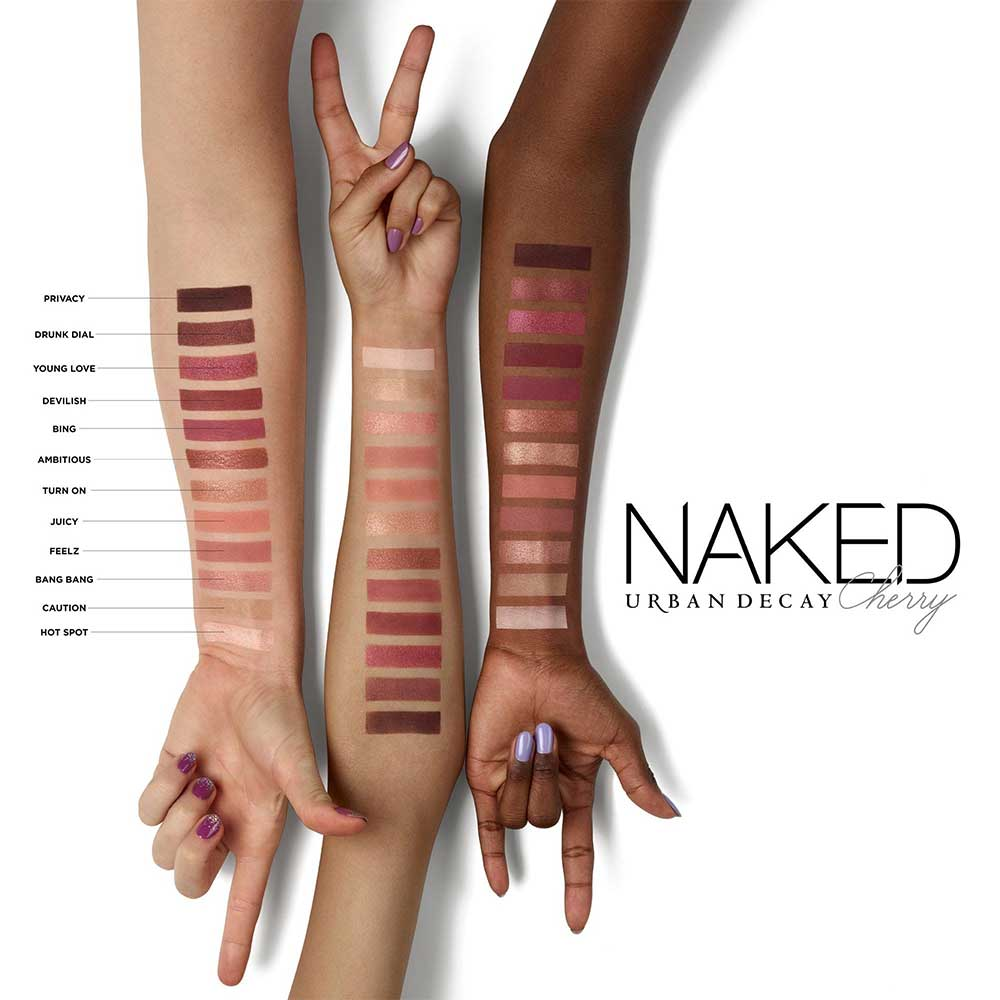 Naked Cherry Palette UD Swatches