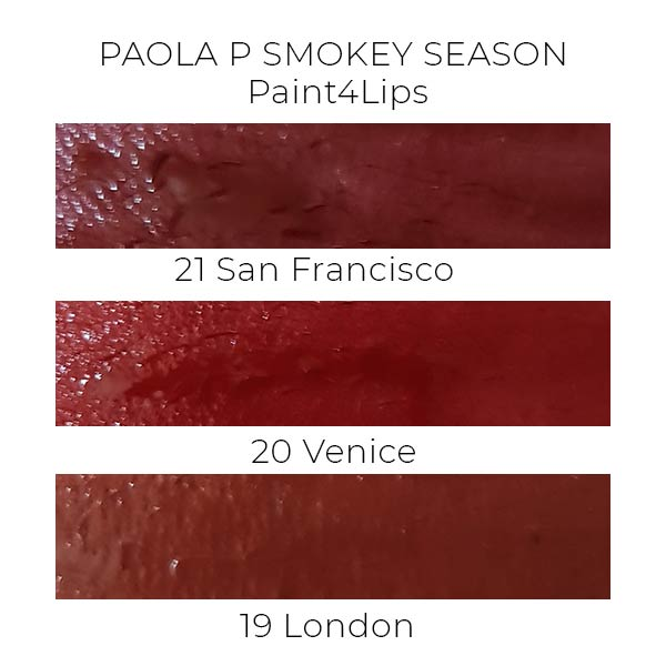 PaolaP Smokey Season Paint4Lips swatches