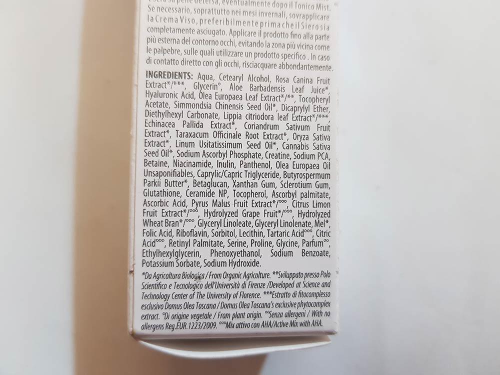 Domus Olea Toscana Micro-Ialuron INCI Siero Booster Detox Lift
