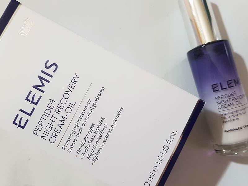 Elemis Peptide4 Night Recovery Cream-Oil | recensione, opinioni