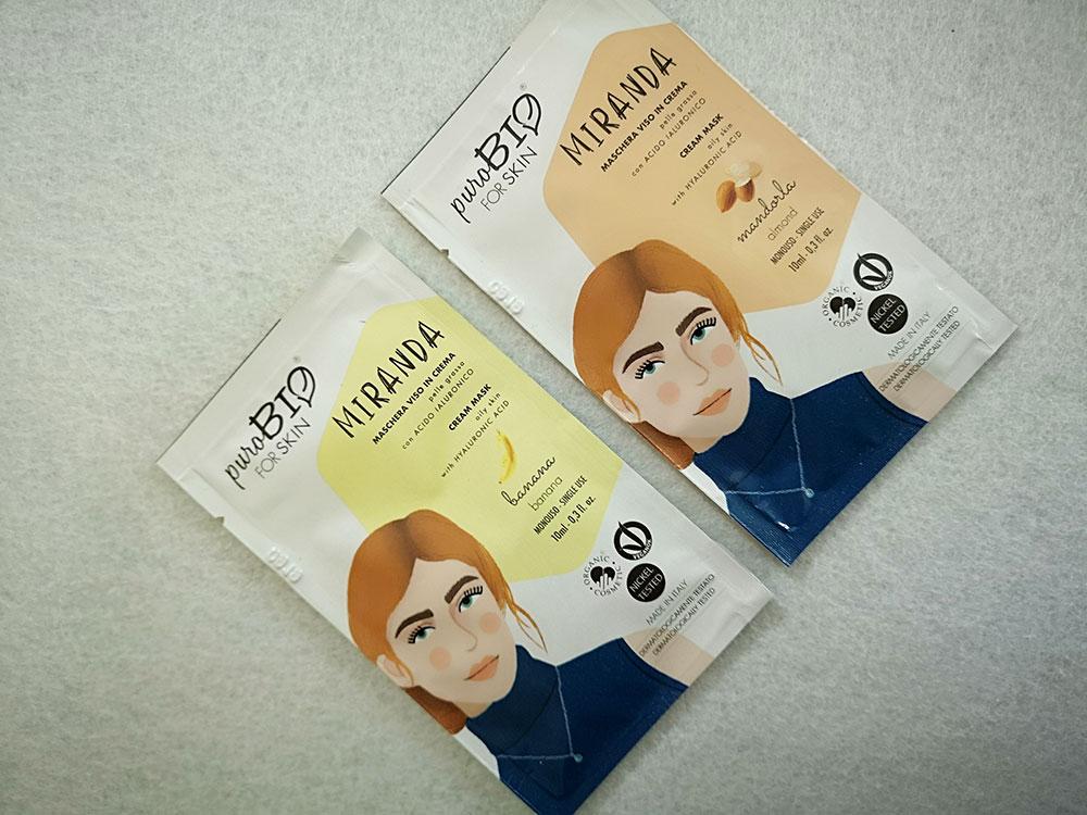 Maschere viso PuroBIO For Skin in crema