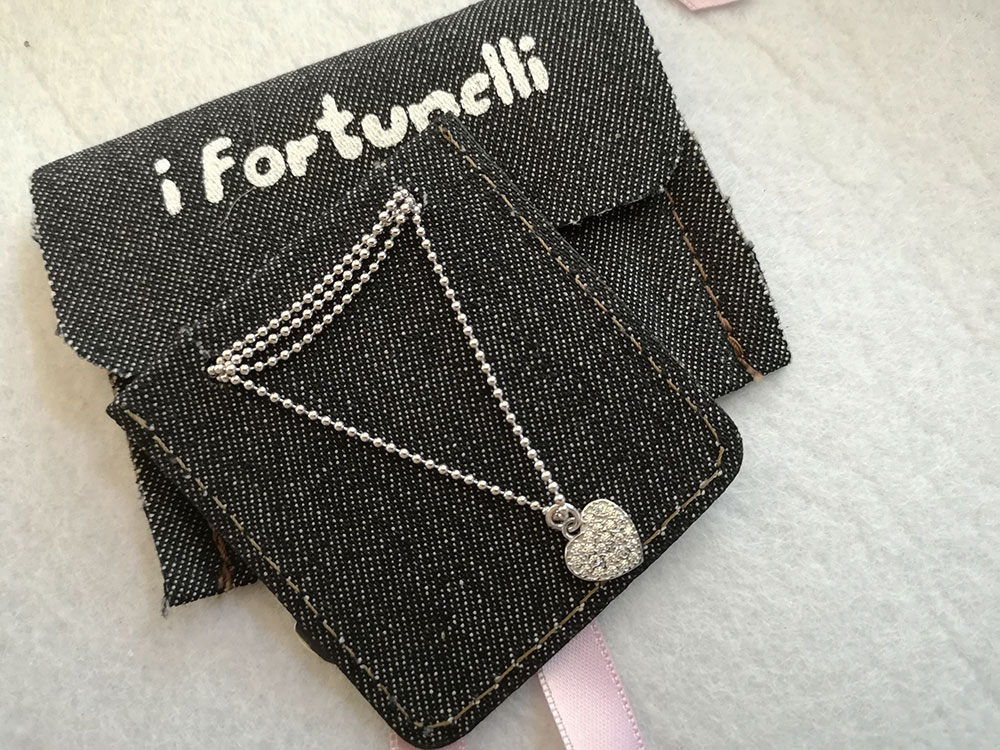 Collana argento cuore i Fortunelli