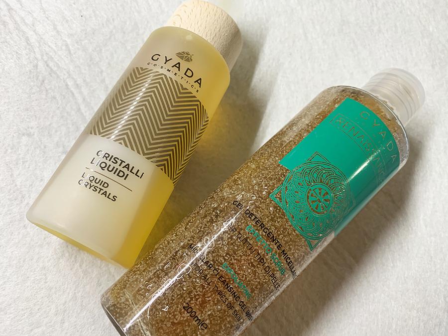 Gyada Cosmetics detergente micellare e olio capelli