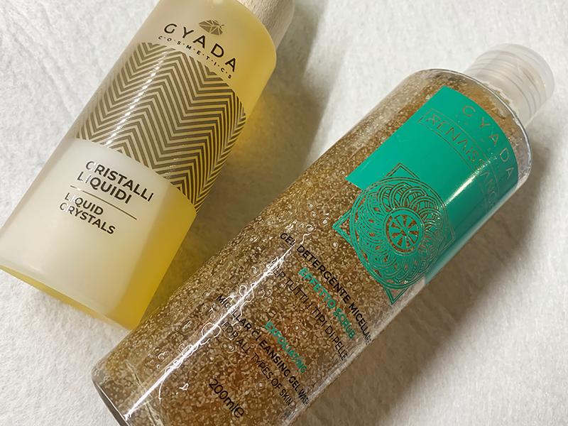 Gyada Cosmetics Gel detergente micellare effetto scrub e cristalli liquidi