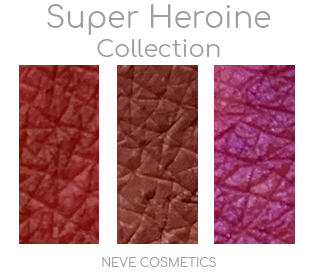 SuperHeroine Collection Neve Cosmetics Swatches