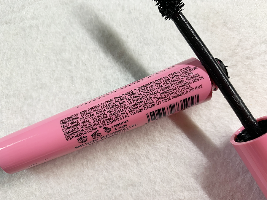 Bubble Black Neve Cosmetics Mascara INCI