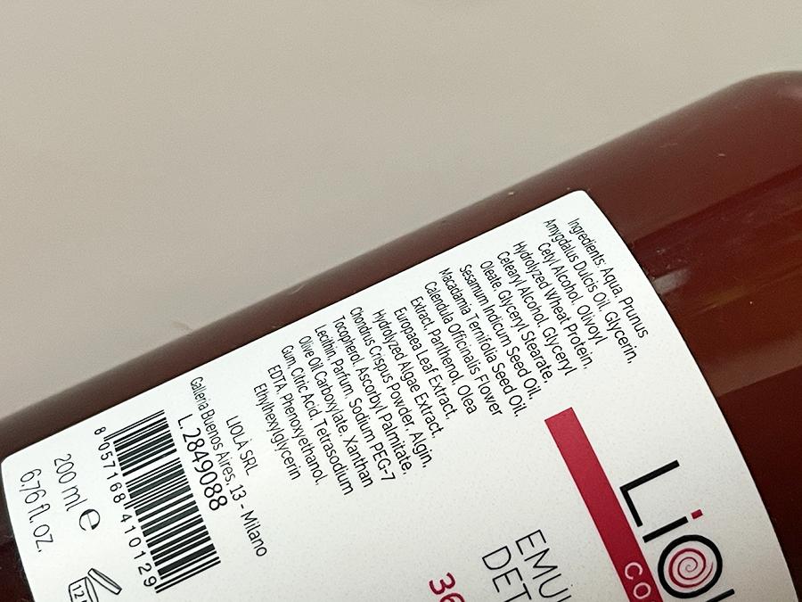 Liolà Cosmetics emulsione detergente INCI